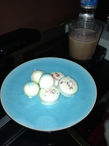 cookies and chocolate milk for Santa...