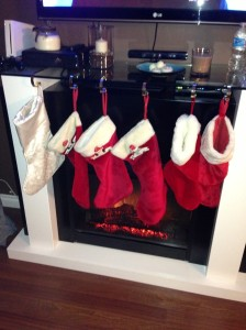stockings were hung by the fire with care...