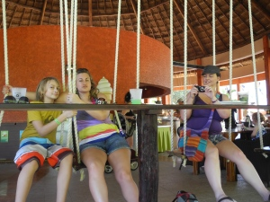 swinging at the snack bar...