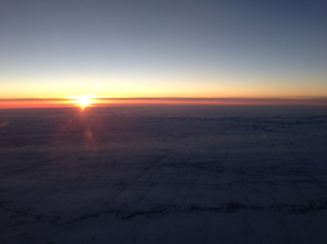 sunset on the plane ride home...