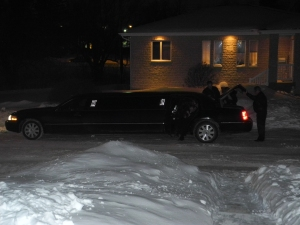 everyone arrived in the limo...
