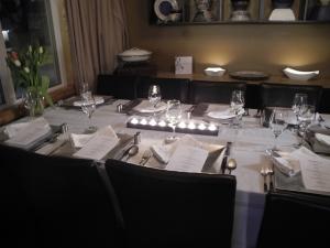 table ready for dinner...