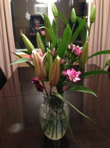 lovely flowers from my BS friends...