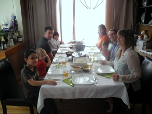 Easter dinner with family and friends...