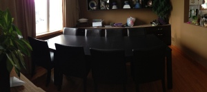 panorama of new Ikea table...