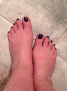 purple toes...