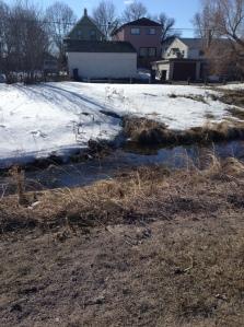 water finally in Truro Creek...