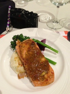 salmon with mashed potatoes and a lovely mustard sauce...