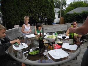 dinner on the deck...