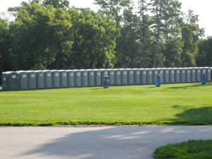 port-a-potties waiting...