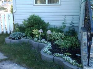front left flower bed 2012...