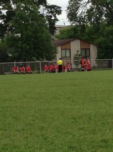 Kyler's team taking a well deserved break...
