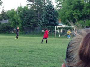 Tavin on the way to a goal...
