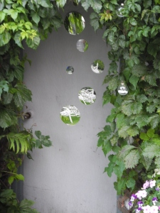 mirrors and bubbles hanging as a reminder of the party...
