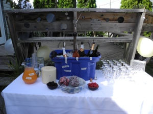 Champagne bucket and fixings...