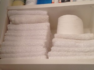 lots of clean facecloths...