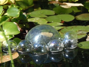 close up of floats and glass bubbles...