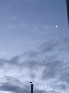sliver of moon in the morning...