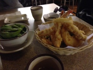 tempura and edemame...