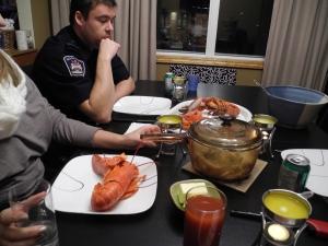 lobster for dinner...