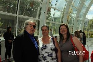 Cyndi and I with Dale Chihuly taken by one of their photographers...