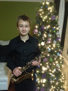 our musician with his sax...