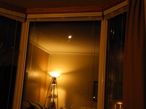 moon through the window...