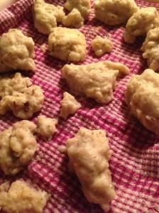 dumplings for tomorrow's soup...