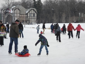 skating at the Duck Pond, February 2012...