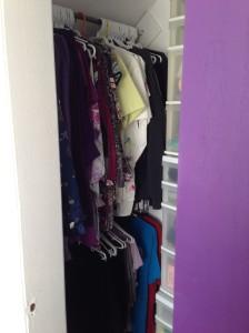 closet organized...