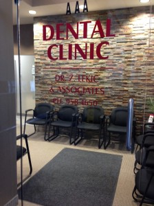 door to the dental office...