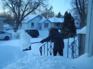 Crystal shovelling...