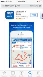 Sochi Olympics app...