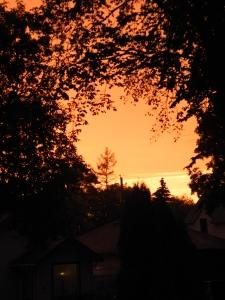 sky around 9 pm...