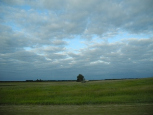 clouds on our drive home...