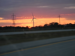 sunset at the wind mills...